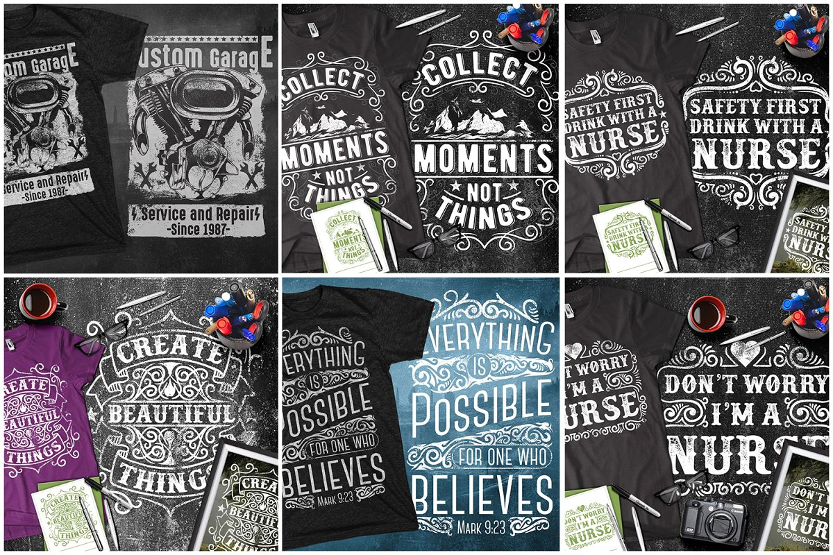 T-shirt designs comprehensive 100 professional design