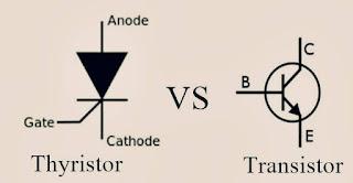 الفرق بين الثايرستور والترانزستور