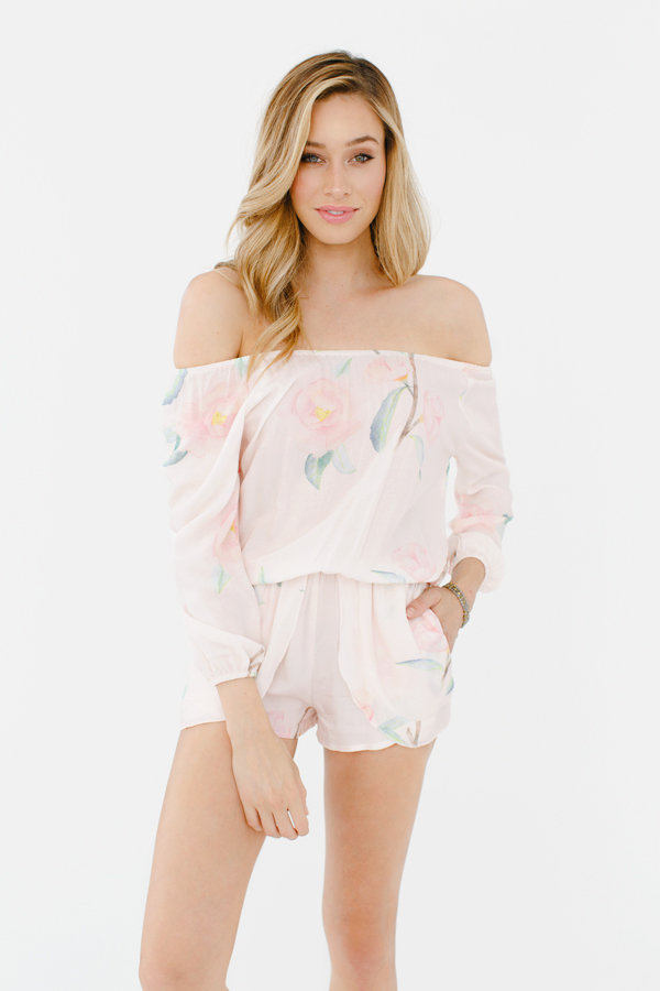 4f38eadfd36 Our Off the Shoulder Petaled Rompers are a must-have for any Summer  wardrobe. Whether you re out and about