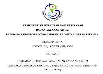 Lowongan Kerja Penerimaan Pegawai Non ASN di Kementerian Perikanan dan Kelautan
