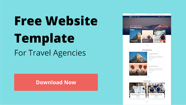 Free Website Template for Travel Agencies