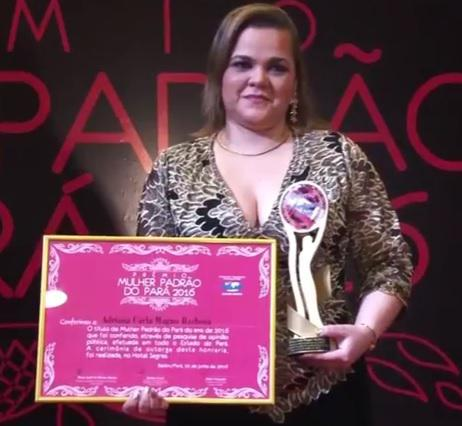 Belém/PA: Polícia Civil recebe reconhecimento com prêmio Mulher Padrão 2016 recebido por delegada.