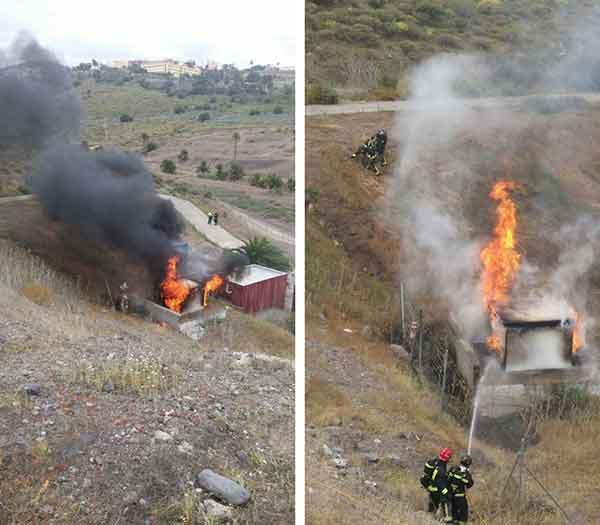 Incendio estación transformadora, Las Palmas de Gran Canaria