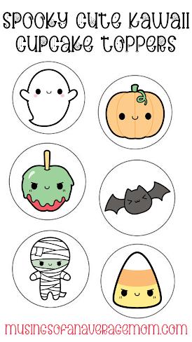 Free Cute Kawaii Halloween Printables