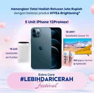 Promo NIVEA Extra Care Lebih Dari Cerah Festival Berhadiah Iphone 12 Pro Max