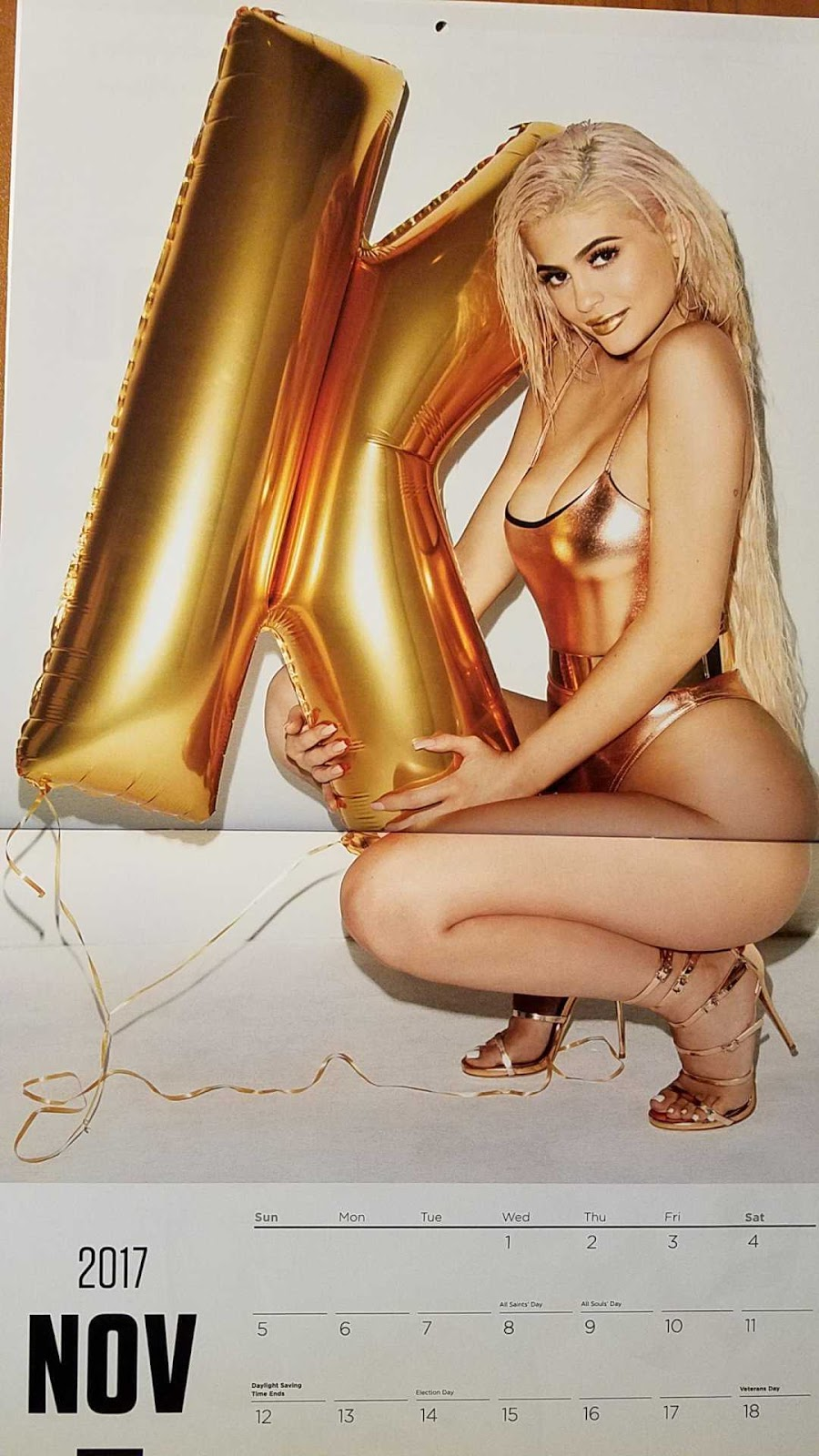 Kylie Jenner in 2017 Calendar Photoshoot by Terry Richardson
