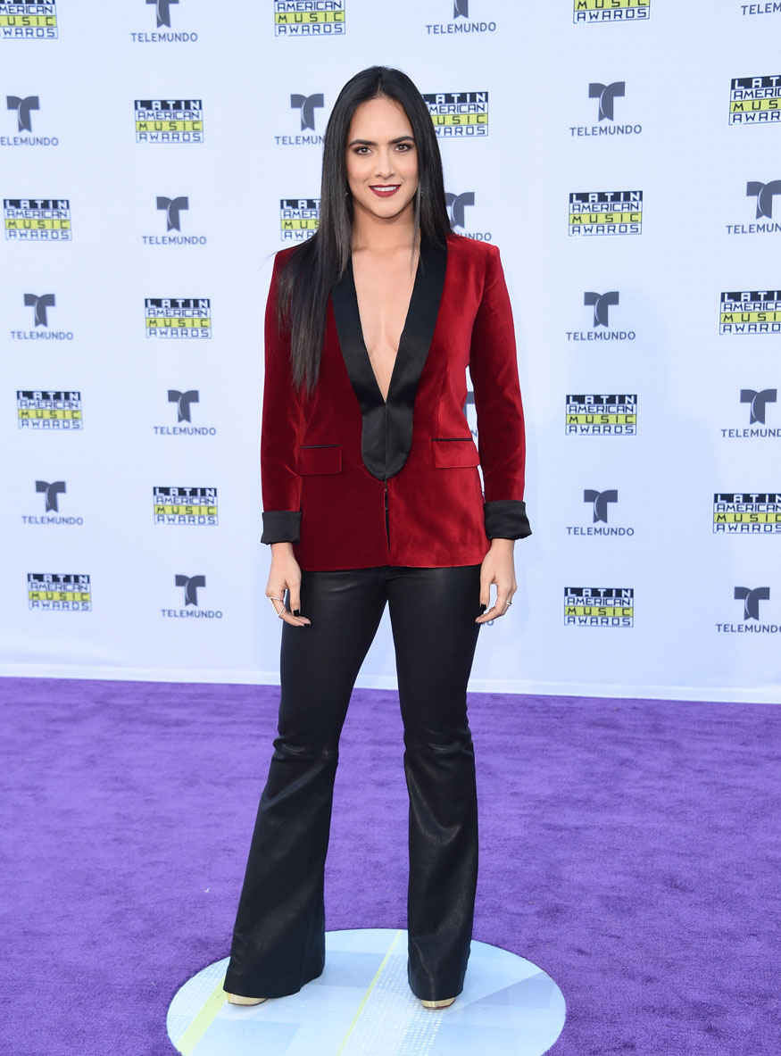 Mariale Marrero Stuns in Bold Dress at American Music Awards