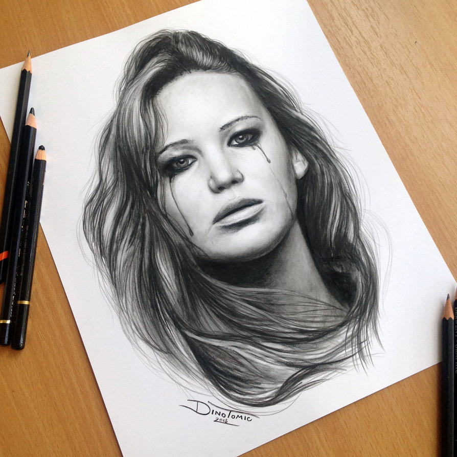 03-Jennifer-Lawrence-The-Hunger-Games-Dino-Tomic-AtomiccircuS-Drawing-Painting-Tips-and-Digital-Art-www-designstack-co