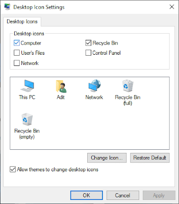 Centang Computer Untuk Mengaktifkan Icon This PC Yang Hilang Di Windows 10