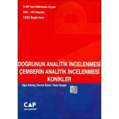 Çap Yayınları Doğrunu n Analitik incelemesi Çemberin Analitik İncelemesi Konikler