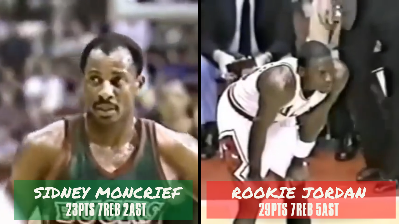 April 26, 1985(04/26/1985),Michael Jordan@MIL,Playoffs R1G4,29pts,7reb,5ast