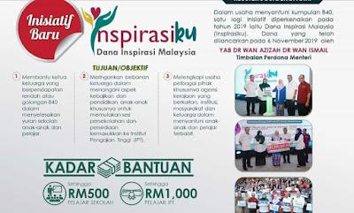 Permohonan Dana Inspirasi Malaysia 2020 (Bantuan Persekolahan YAPEIM)