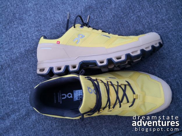 Inner side view and top view of ON Cloudventure Waterproof Mustard