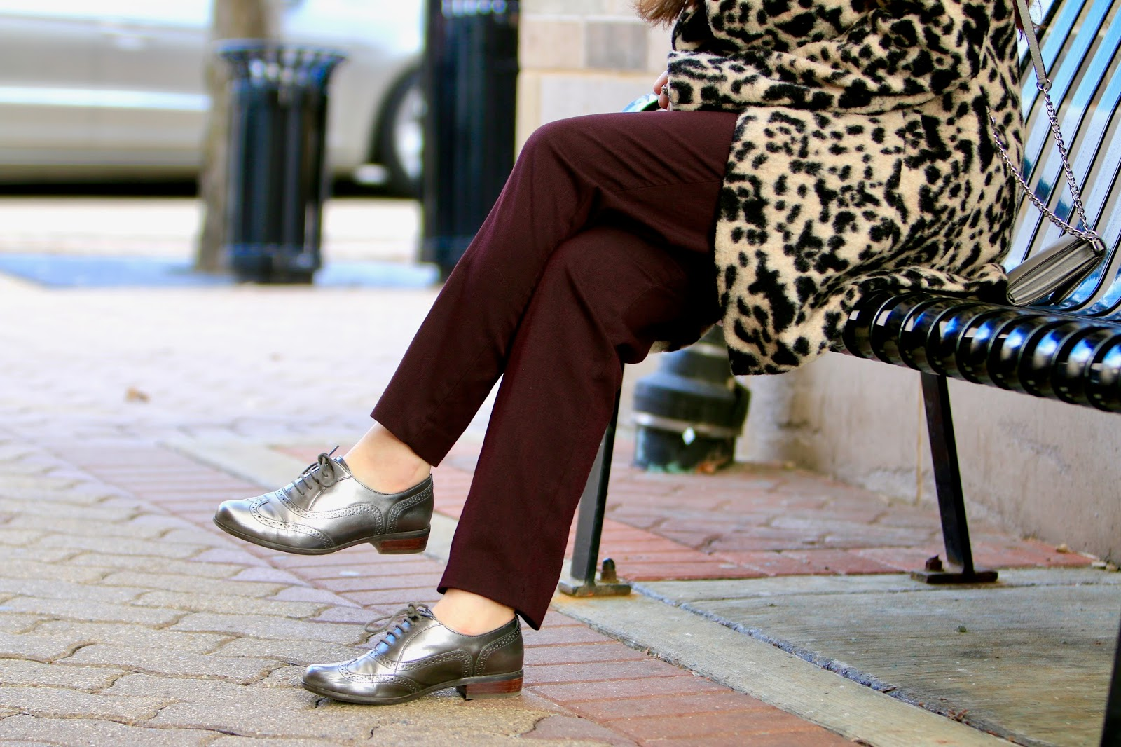 silver oxfords women pics
