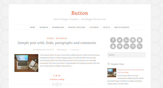 Template Blogger Responsive Button