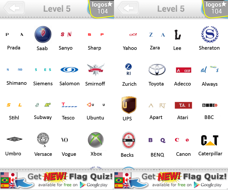 Logo Quiz Level 5 Answers by bubble quiz games Answers ...