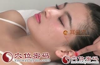 耳尖穴位 | 耳尖穴痛位置 - 穴道按摩經絡圖解 | Source:xueweitu.iiyun.com