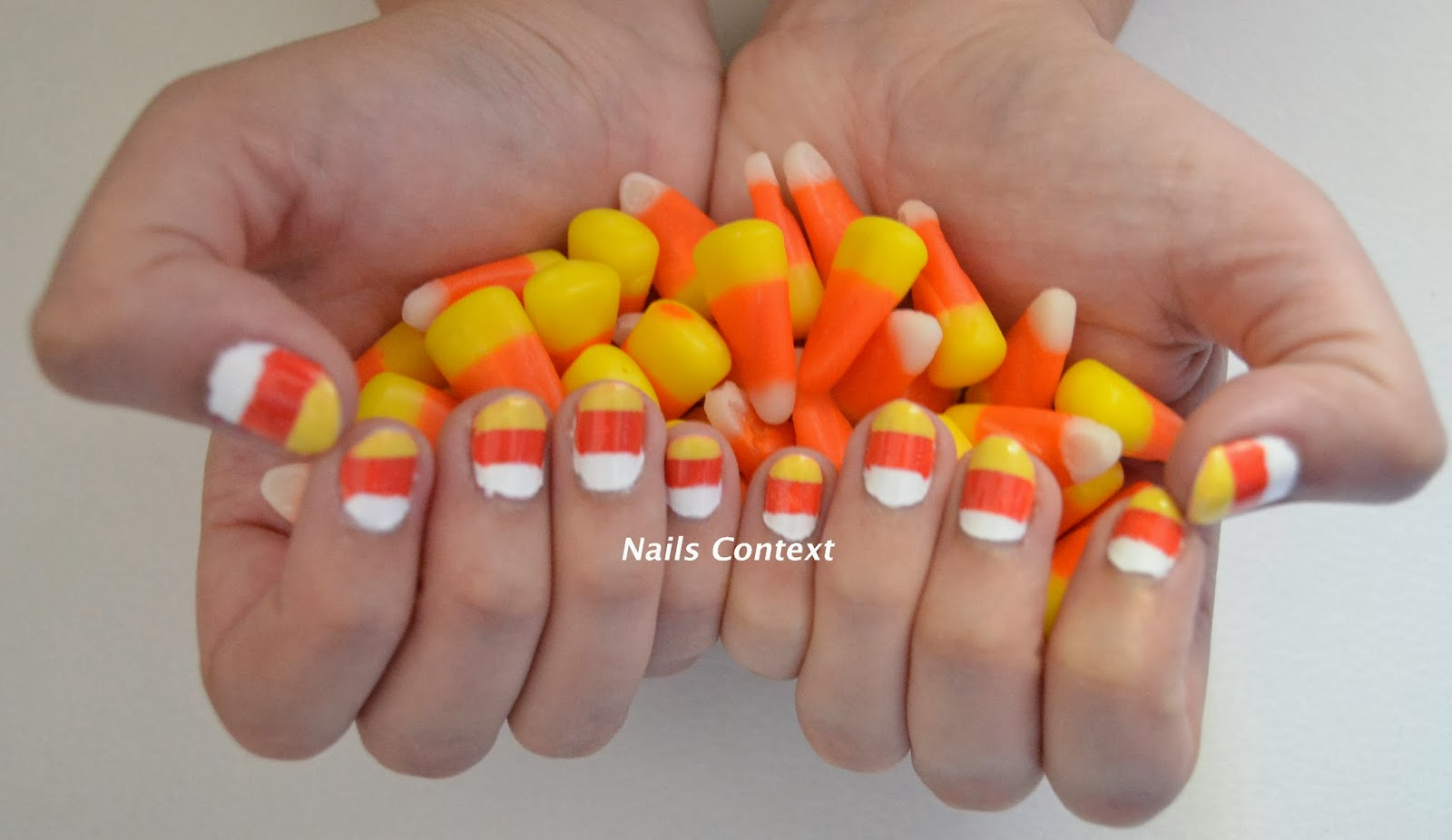 Nails Context: Halloween Series: Candy Corn Nails