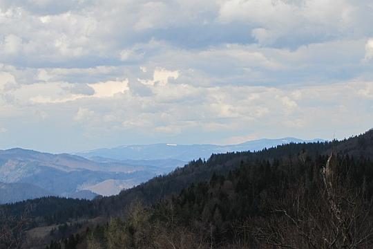 Widok na Gorce z Lichoniowych Gór