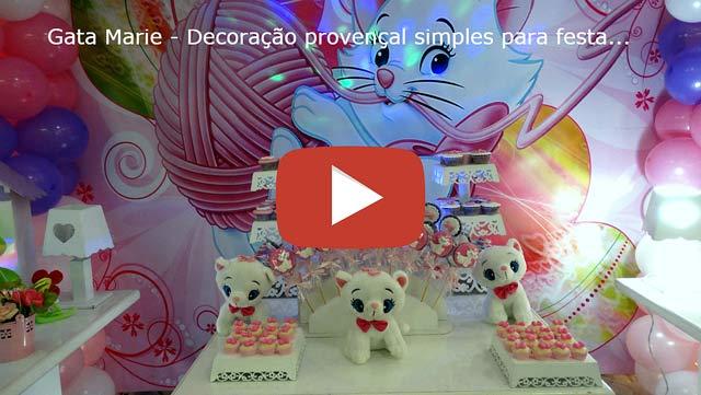 Vídeo decoração infantil Gata Marie provençal simples