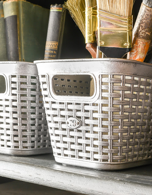 How to make DIY vintage inspired locker baskets!