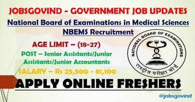 NBEMS Recruitment 2021