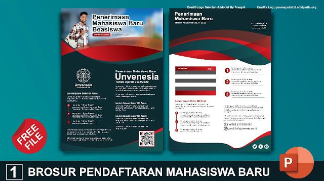 Brosur Pack : Download Kumpulan Brosur Pendaftaran mahasiswa Baru Powerpoint