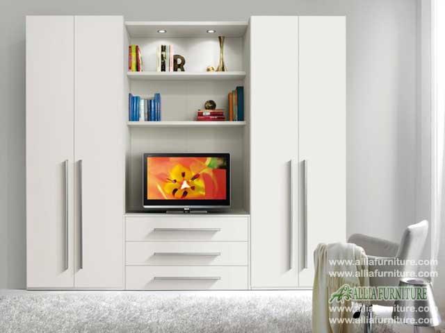 lemari pakaian tv minimalis model vios
