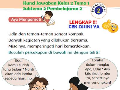 Kunci Jawaban Kelas 2 Tema 1 Subtema 2 Pembelajaran 2 www.simplenews.me