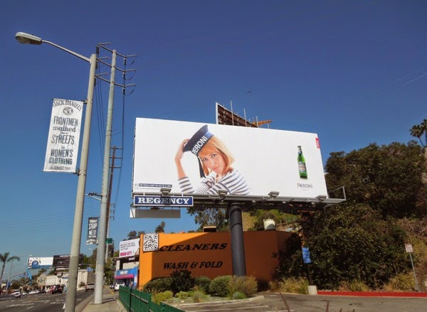 Peroni Beer sailor hat billboard Sunset Strip