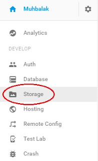menu storage firebase