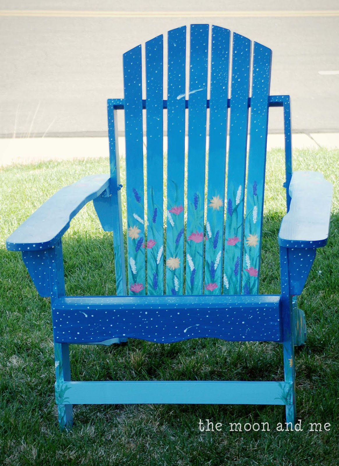 Ideas For Painting Adirondack Chairs Toddler Chair With Name The Moon And Me An Evening