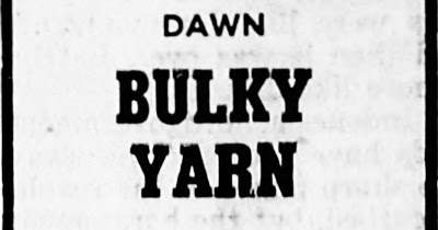 Dawn Bulky Yarn, American Thread