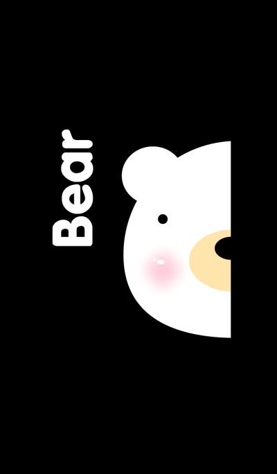 Simple pair Bear(White)