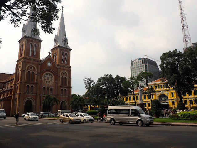 Notre Dame Cathedral and Post Office in Ho Chi Minh City, Vietnam