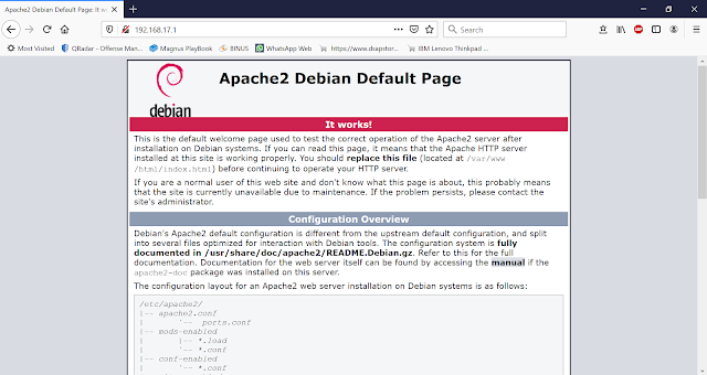 Tampilan web server default