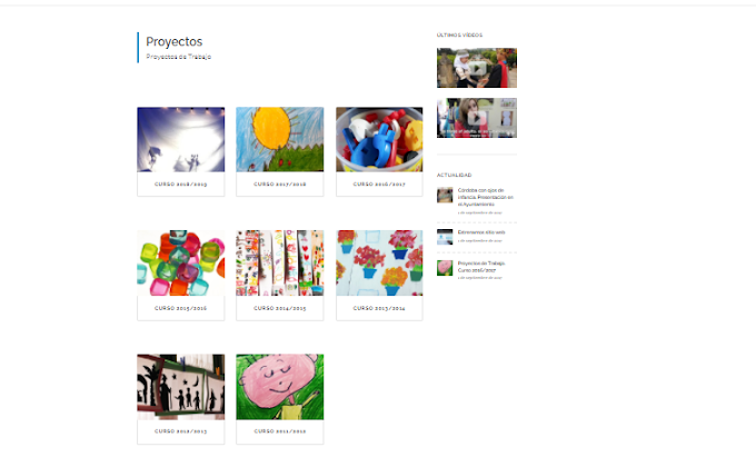 Página web con un montón de ejemplos de Proyectos de trabajo.