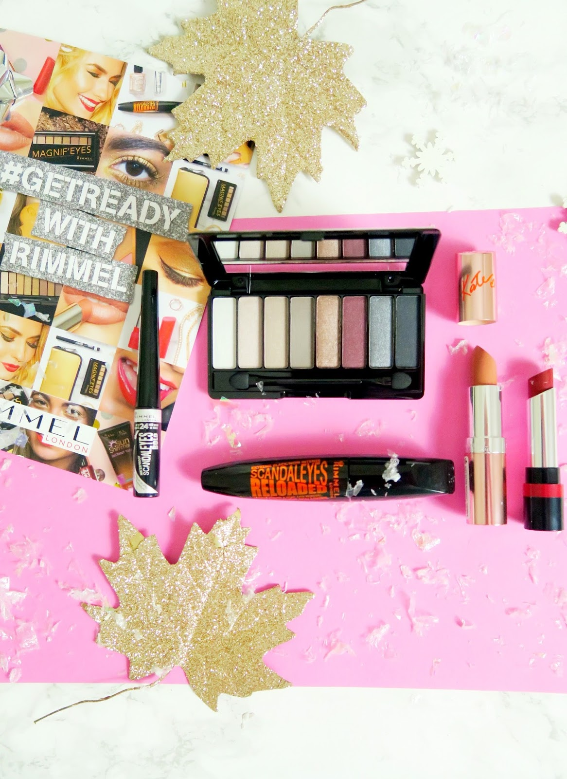 an image of #GetReadyWithRimmel products for NYE