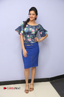 Actress Mouryani Stills in Short Dress at Janaki Ramudu Audio Launch  0257