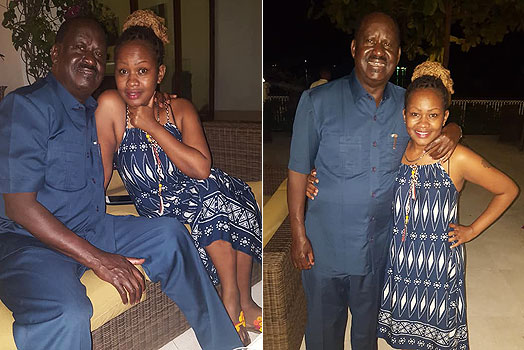 Sasha Seraphine Mbote with Raila Odinga photos