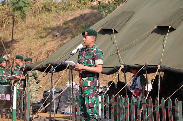 Danyonarmed 13 Kostrad  Tutup Pelatihan Bimbingan SDM PKH Dinsos di Sukabumi