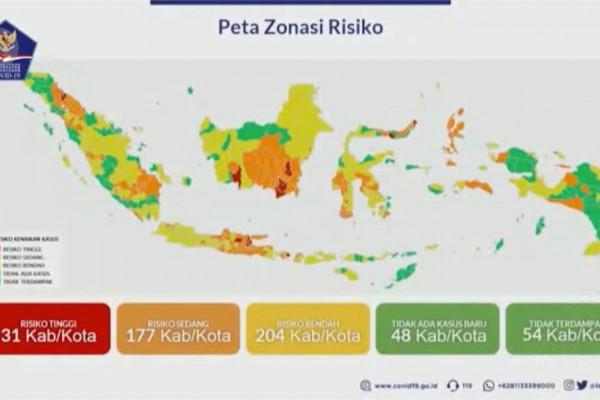 Daftar 31 Daerah Zona Merah, dan 102 Zona Hijau Diizinkan Terapkan New Normal