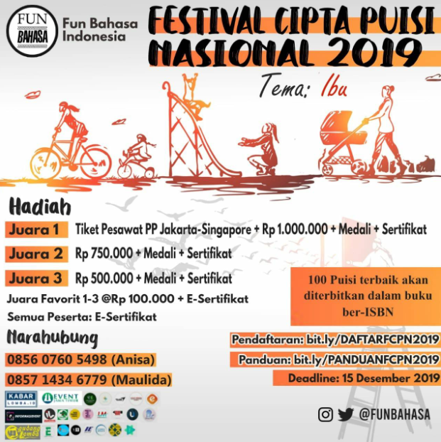 Lomba Cipta Puisi Nasional 2019 di Fun Bahasa Indonesia