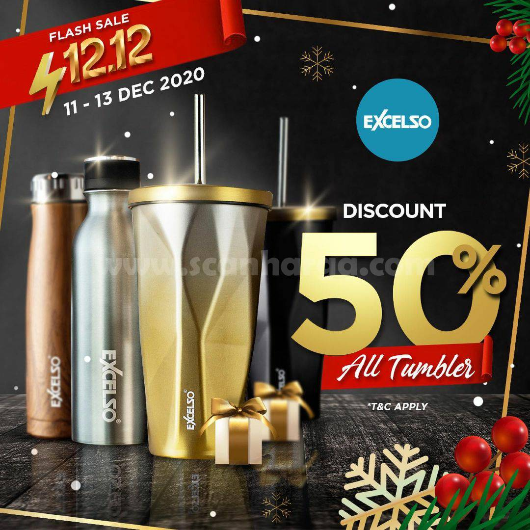 Excelco Coffee Promo Flash Sale 12.12 – Discount 50% All Tumbler
