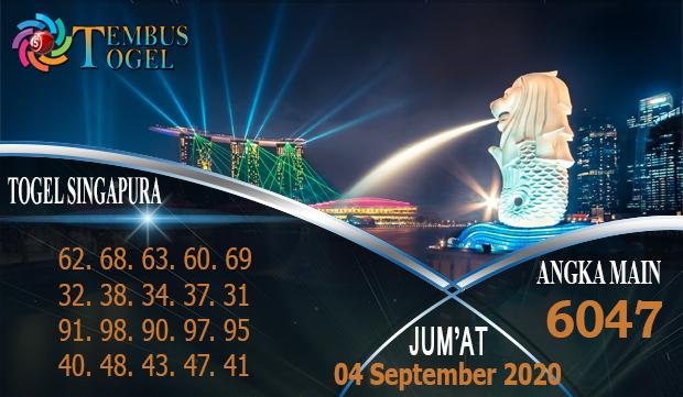 Nomor Togel Singapura Jum'at 04 September 2020