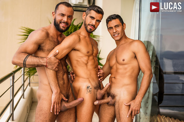 #LucasEntertainment - SIR PETER AND RAFAEL CARRERAS DOUBLE PENETRATE VALENTIN AMOUR
