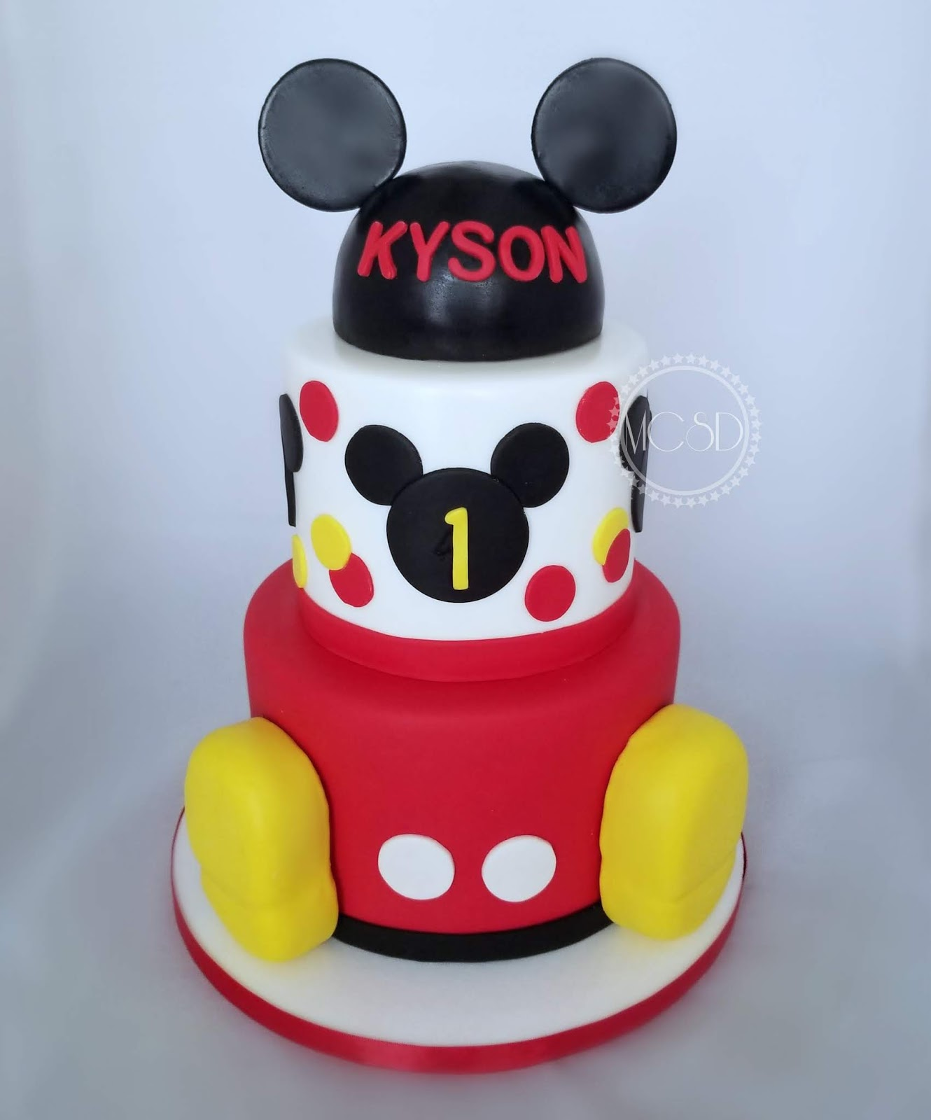 Mickey Mouse 1st Birthday Cake: MyCakeSweetDreams: Mickey Mouse 1st Birthday Cake