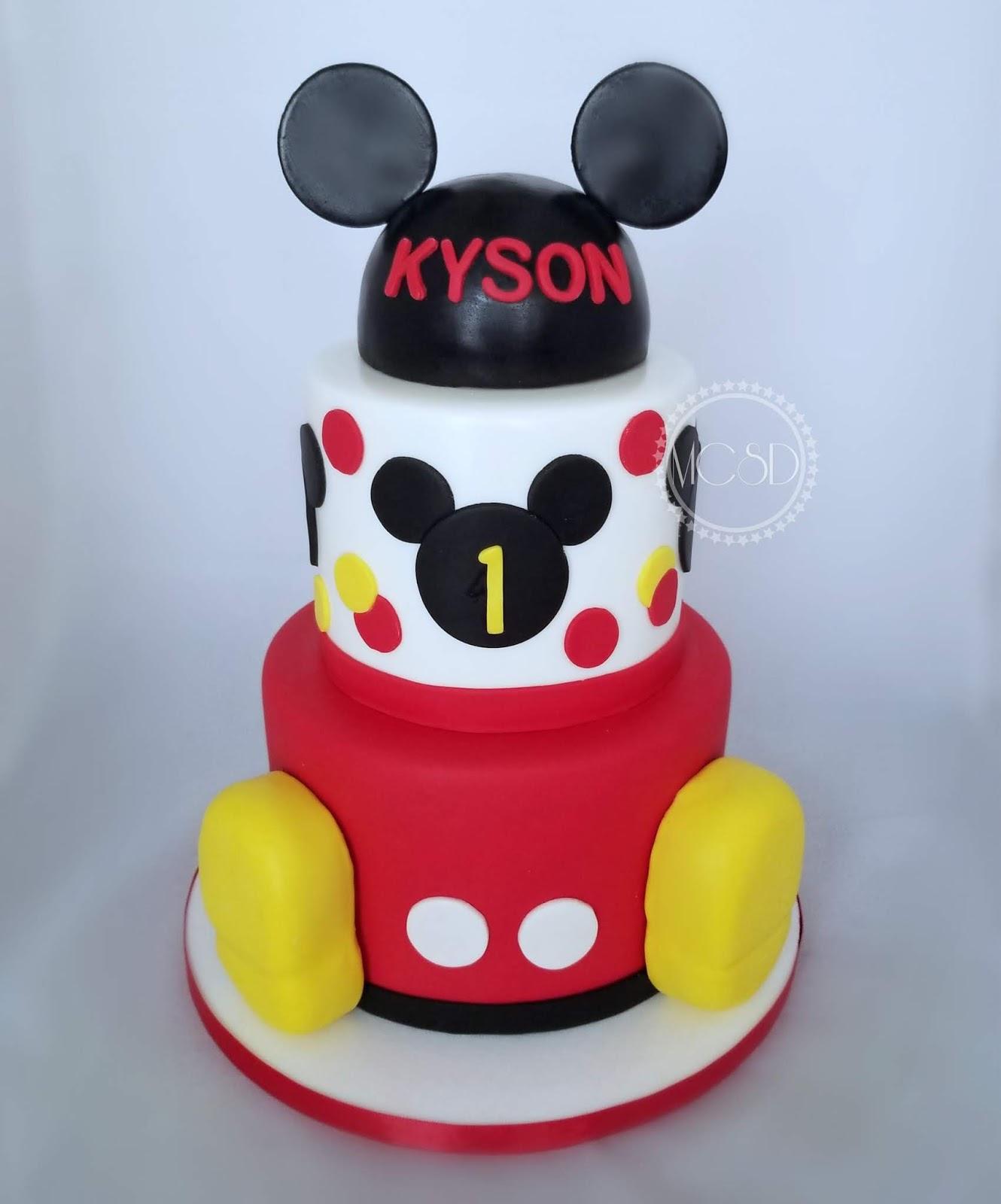 Cool Cakesbyzana Mickey Mouse 1St Birthday Cake Funny Birthday Cards Online Sheoxdamsfinfo