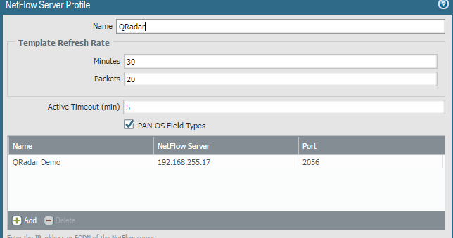 Packets and Pings: Palo Alto/QRadar Netflow Integration