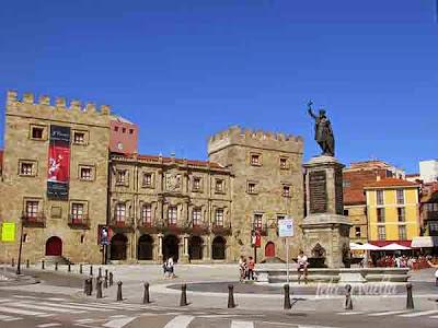 Luminoso día en Gijón
